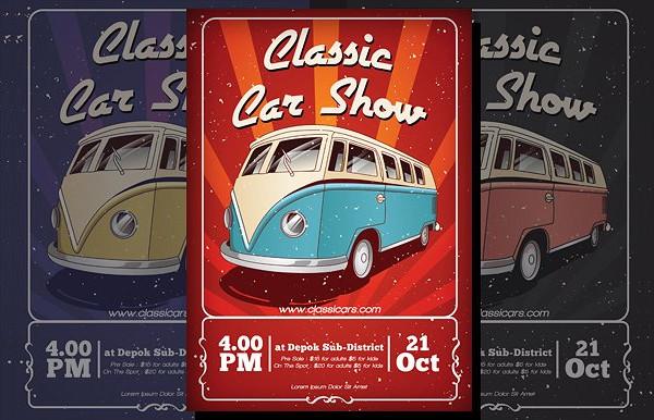 Old Classic Car Design Flyer