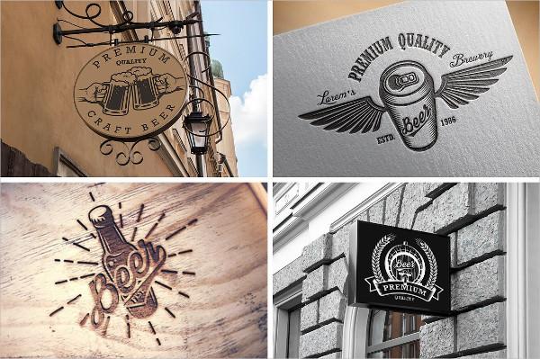 Set Of Creative Bar Logos