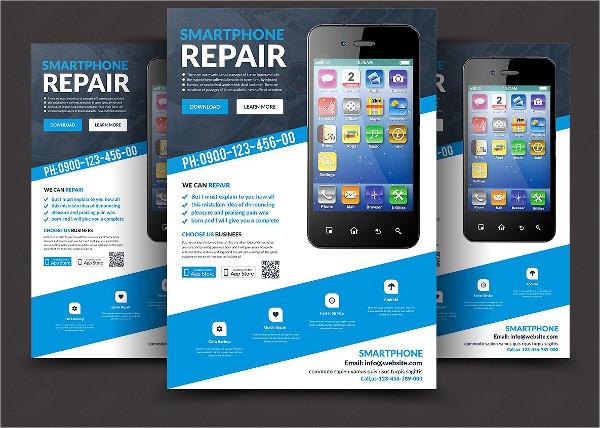 Smartphone Display Repair Flyer Templates