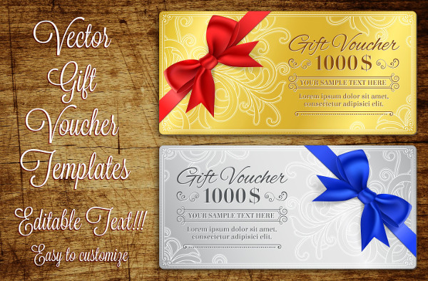 Vector Grunge Template for Gift Vouchers