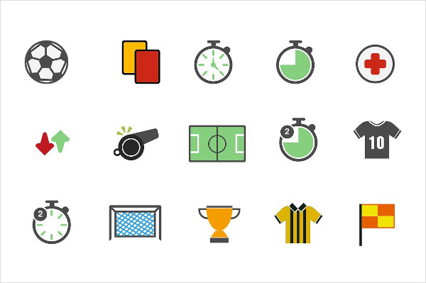 15 Colorful Icon Pack for Soccer