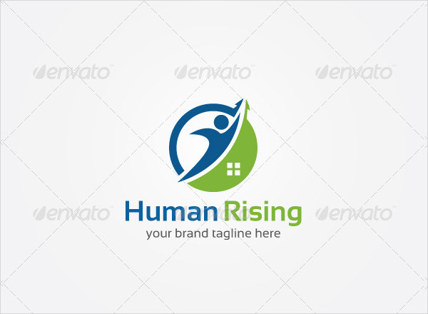 Rising Estate Consultant Logo Template