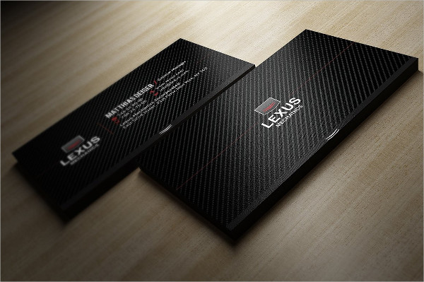 Print Ready Carbon Business Card Template