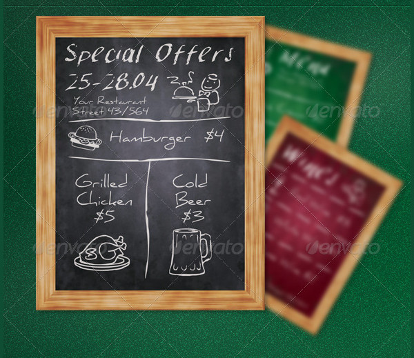 Chalkboard Restaurant Flyers Bundle