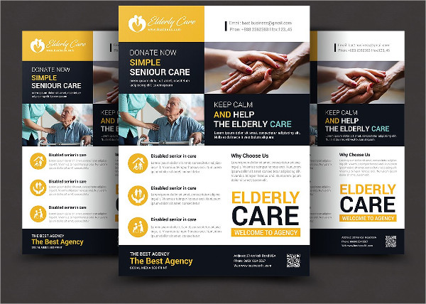 Perfect Elderly Care Flyer Template