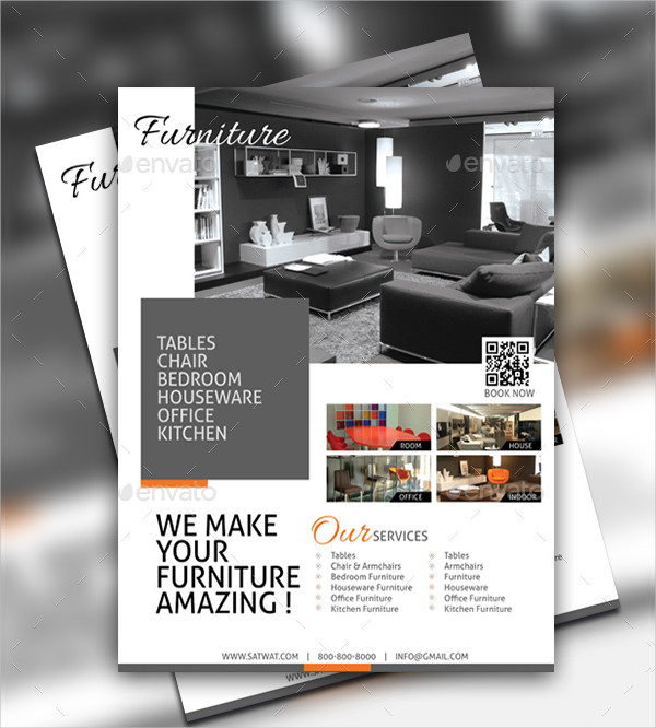Fully Editable Furniture Store Flyer Template