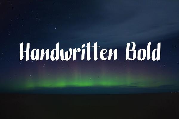 Handwritten Bold Comic Font