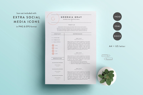 Hipster Resume Template Download
