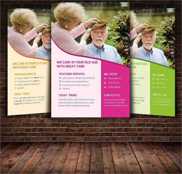 Print Ready Old Age Home Flyer Template