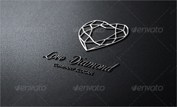 Love Diamonds Logo Template