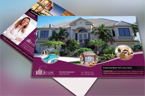 Printable Real Estate Postcard Design