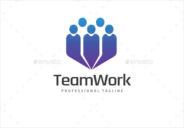 Professional Team Work Logo Template