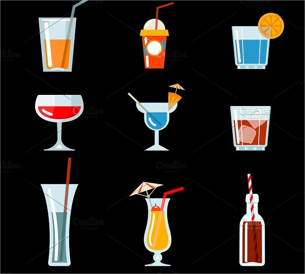Vector Cocktail Party Icons