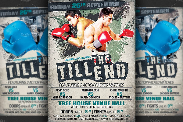 Best Boxing Night Flyer Template