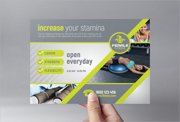 Creative Female Fitness Flyer Template