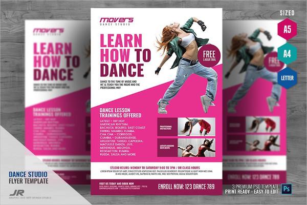 Dance Class Studio Flyer Design