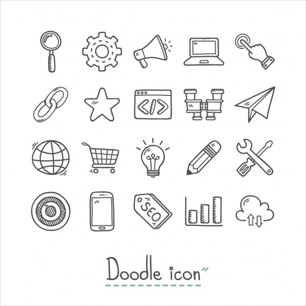 Hand Drawn Business Icons Collection Free Download