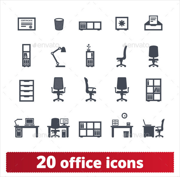 20 Private Workplace and Workspace Vector Set