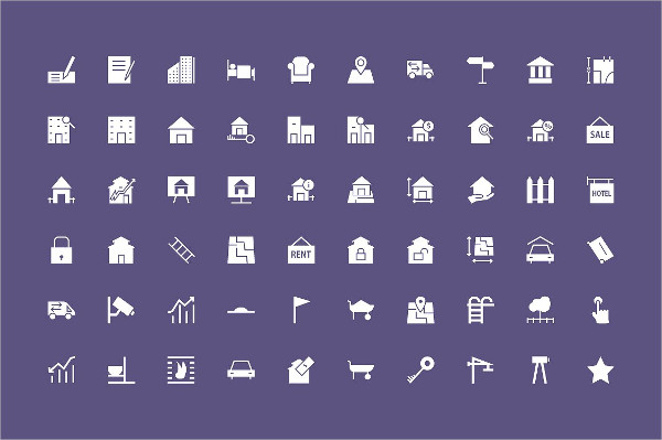 Fantastic Collection of Real Estate Vector Icons