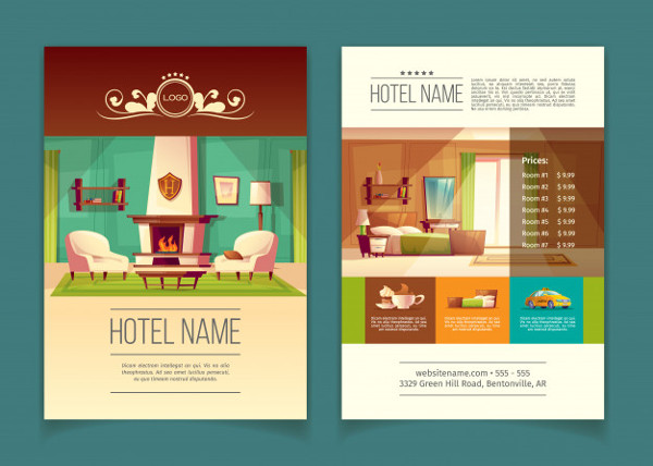 Advertising Leaflet with Hotel Apartments Free