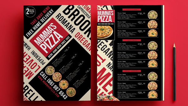 Pizza Menu Templates