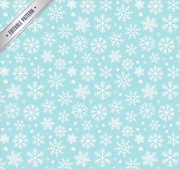Winter Snowflakes Pattern Vectors Free