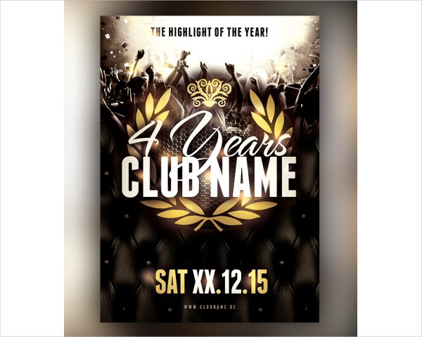 Anniversary Club Flyers Template