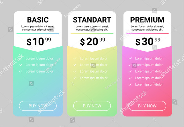 Gallery Price List Template