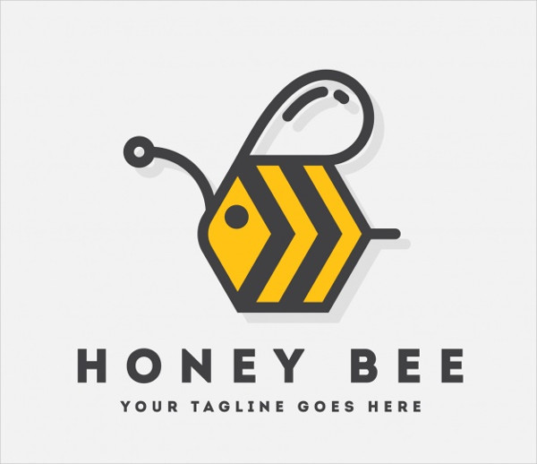 Bee Logo Template Design Free Download