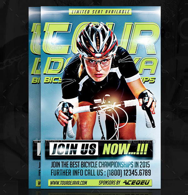 Bicycle Championships Flyer PSD