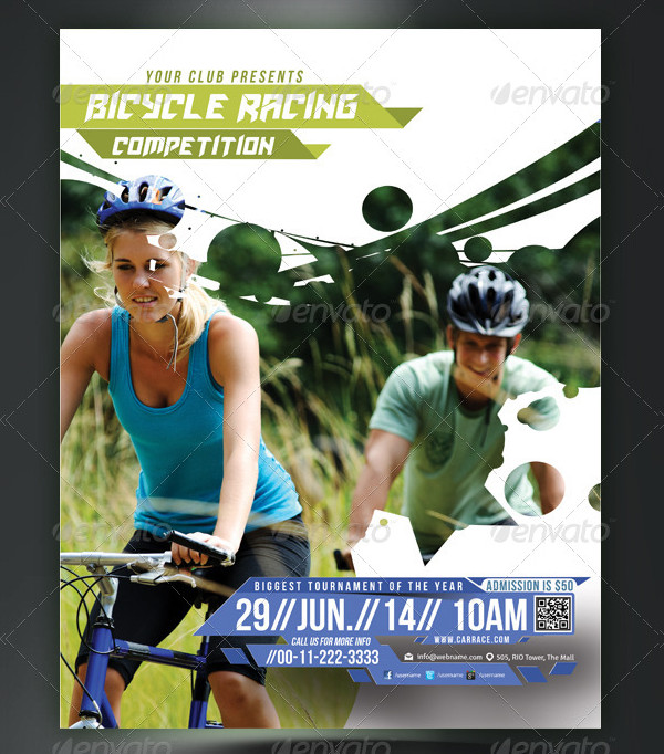 Bicycle Racing Competitions Flyer or Poster