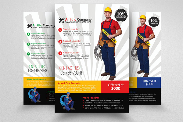 Clean Handyman & Plumber Services Flyer Template