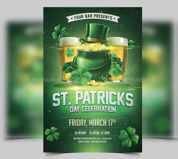 Clean St Patricks Day Flyer Template