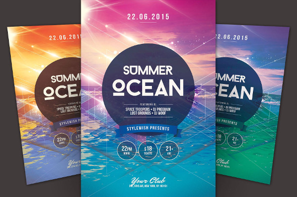 Colorful Summer Ocean Flyer Template