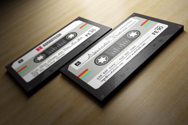 DJ Visiting Card Design PSD