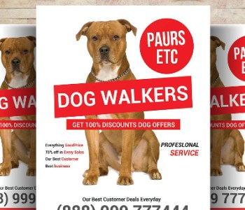 Dog Walker Flyer Templates