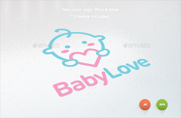 Excellent Baby Love Business Card & Logo Template
