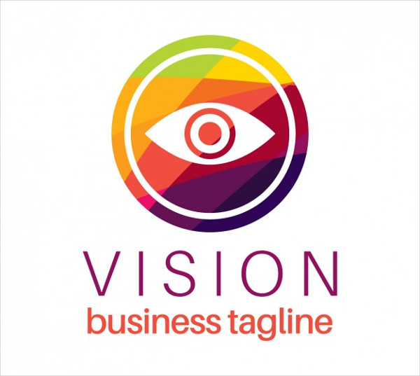 Vector Vision Logo in Colorful Style Free