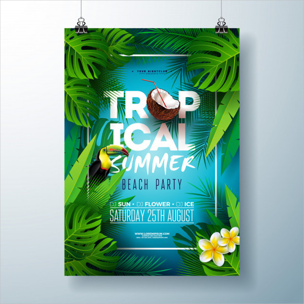 Free Beach Flyer or Poster Design