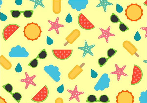 Free Beach Pattern Vector
