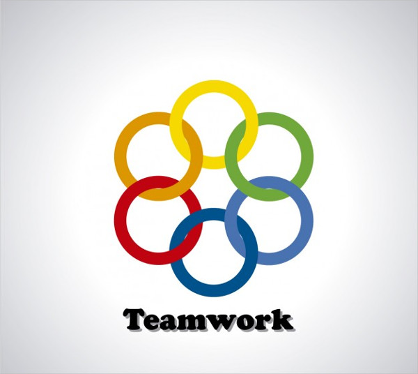 Free Download Rings Logo Template for Team Work