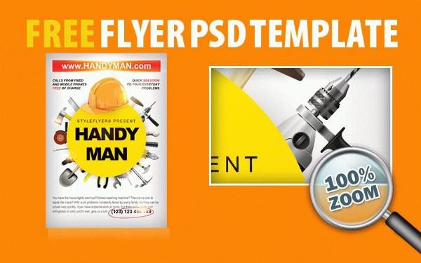Handyman Free PSD Flyer Template