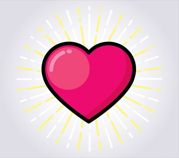 Free Download Colored Heart Design