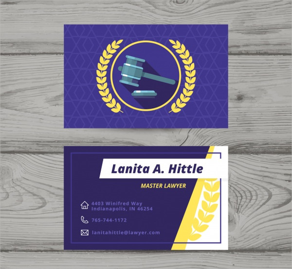 Law Firm Business Card Design Free Download