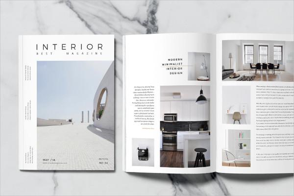 Minimalistic Magazine Layout