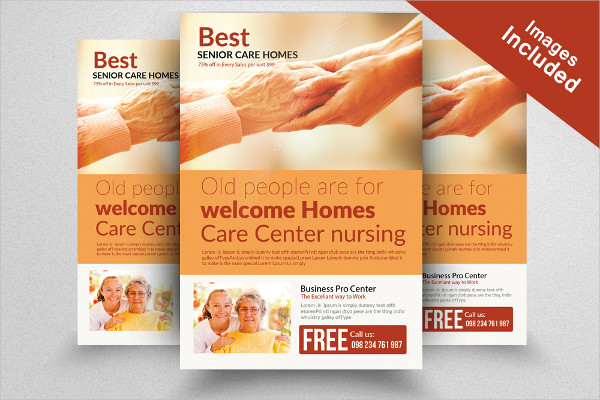 Old Homes For Senior People Flyers Template