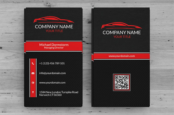 Simple and Clean Business Card for Automotive Companies