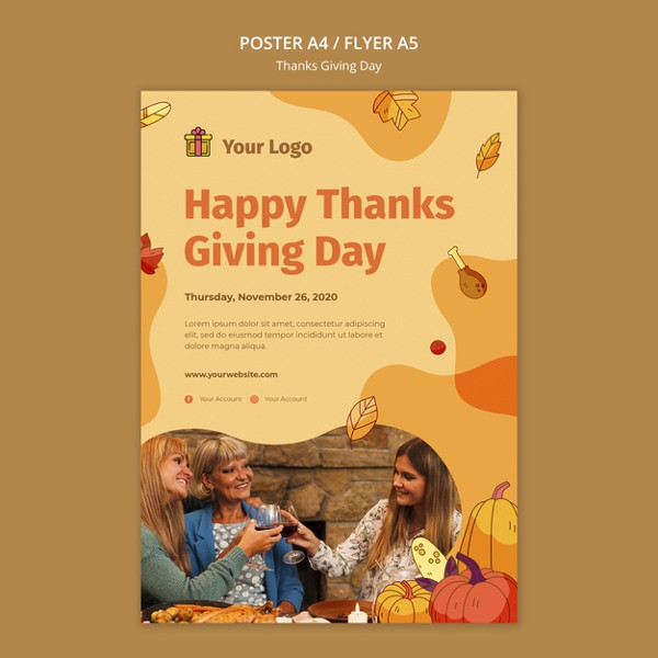 Thanksgiving Celebration Flyer Design Free Download