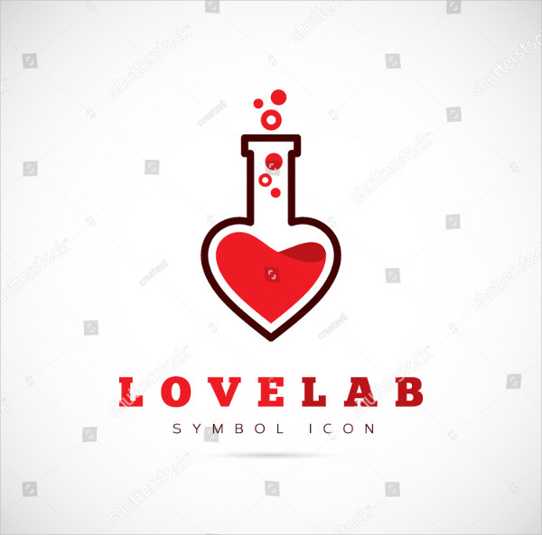 Vector Love Lab Logo Template