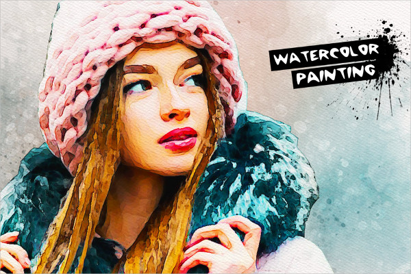 Watercolor Painting Effect PSD Action